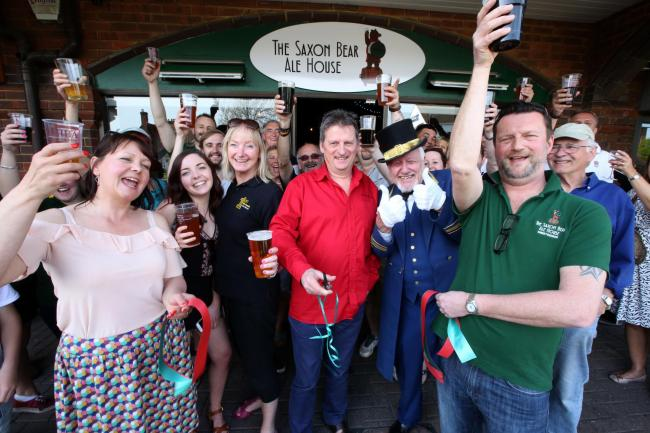 The Saxon Bear Micropub opens its doors
